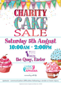 Cake stall living with aphasia exeter stroke devon