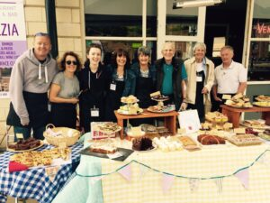 cake stall living with aphasia fundraising exeter devon stroke